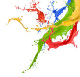 Colored splashes in abstract shape Royalty Free Stock Photography