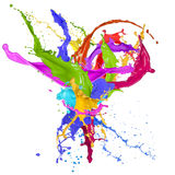 Colored splashes in abstract shape Stock Photos