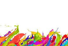 Colored splashes Stock Photography