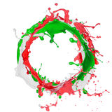 Colored splashes in abstract shape Stock Photo