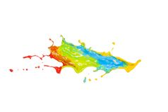 Colored splashes in abstract shape Stock Photography