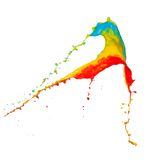 Colored splashes in abstract shape. On white background Royalty Free Stock Photography