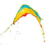 Colored splashes in abstract shape Royalty Free Stock Photo