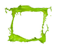 Colored splashes frame Stock Photography