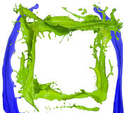 Colored splashes frame Stock Images