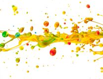 Colored splashes Royalty Free Stock Photos