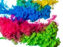 Colored splashes, isolated on white background. Colored splashes in abstract shape, isolated on white background Stock Illustration