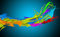 Colored splashes in stripe shape Stock Photography