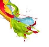 Colored splashes on white background Stock Image