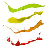 Colored splashes on white background Royalty Free Stock Images