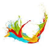 Colored splashes on white background Royalty Free Stock Photos