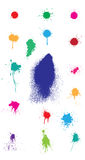 Colored splatter. Colored vector splatter element set Stock Images