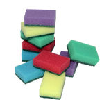 Colored sponges. Colored sponges for washing dishes Royalty Free Stock Image