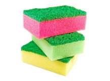 Colored sponges Royalty Free Stock Photography
