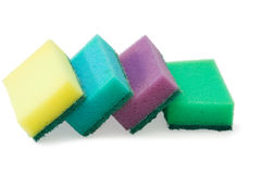 Colored sponges Stock Images