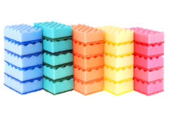 Colored sponges Stock Photos