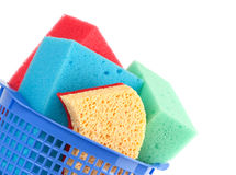 Colored sponges Royalty Free Stock Images