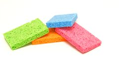 Colored Sponges Stock Photography