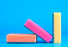 Colored sponges Stock Photo