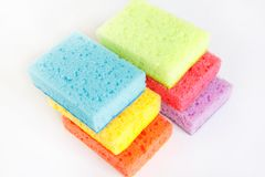Colored spongy plastic texture royalty free stock photography