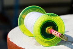 Colored spool of soft thread for kite flying Royalty Free Stock Photography