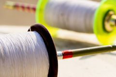 Colored spool of soft thread for kite flying Stock Image