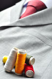 Colored spools stock photo