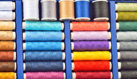 Colored spools of threads Royalty Free Stock Photography
