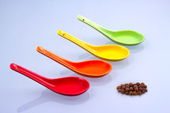 Colored spoons Royalty Free Stock Photography