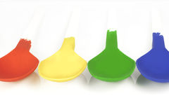 Colored spoons Royalty Free Stock Images