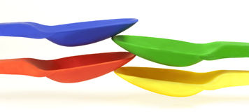 Colored spoons Stock Image