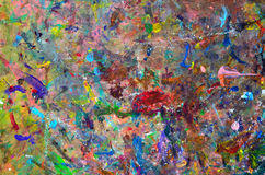 Colored spots. Abstract multicolored background (board for mixing of paints Royalty Free Stock Image