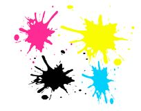 CMYK spots Royalty Free Stock Photography