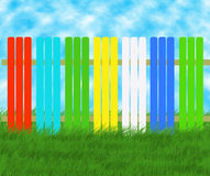Colored spring fence Royalty Free Stock Photography