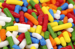 Colored Sprinkles stock images