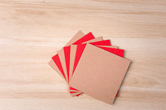 Colored square cardboards Royalty Free Stock Photos