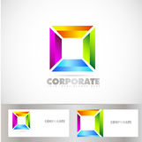 Colored square corporate logo Stock Image