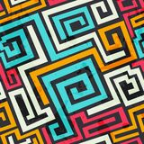 Colored square spiral pattern with grunge effect Stock Image