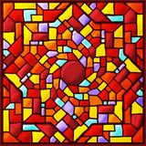 Colored square stained glass mosaic royalty free stock photography