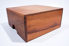 Colored square wooden box. Stock Image
