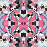 Colored squares abstract geometric in retro style vector illustration grunge effect Stock Photography