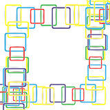 Colored squares background abstract illustration Royalty Free Stock Photo