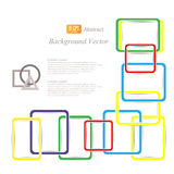 Colored squares background abstract illustration Royalty Free Stock Photos