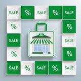Colored Squares Bio Shop Stock Photos