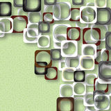 Colored squares on a green background Stock Images