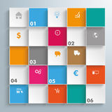 Colored Squares Infographic. Infographic design on the gray background vector illustration