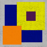 Colored Squares Mosaic. Background on Old Handmade Paper Royalty Free Stock Photo