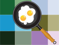 Colored squares paste with Scrambled eggs Royalty Free Stock Photos