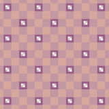 Colored squares on a pink background. Pink, purple and white squares large and small Royalty Free Illustration