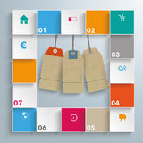 Colored Squares Price Stickers Infographic Royalty Free Stock Image